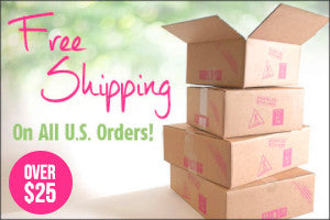 Free Shipping over $25 in the U.S.A!