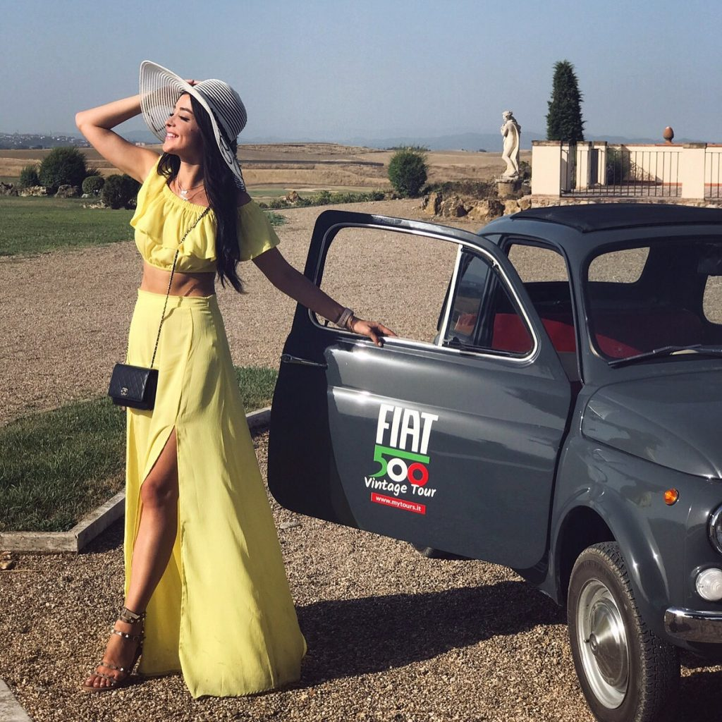 La Bagnaia Golf & Spa Resort Siena - Vintage Fiat500 tour review