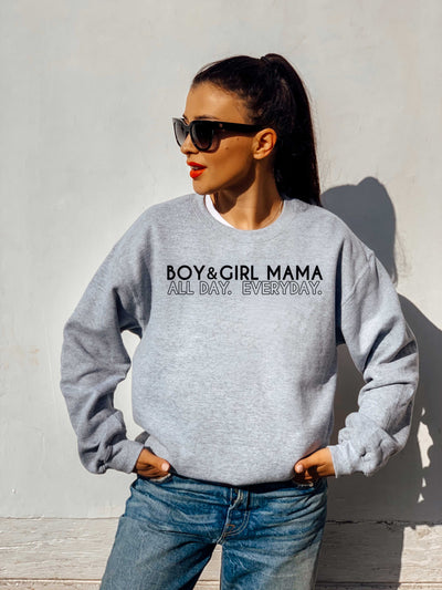 BOY & GIRL MAMA - PREMIUM SWEATSHIRT