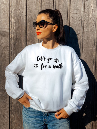 LET'S GO FOR A WALK - PREMIUM SWEATSHIRT