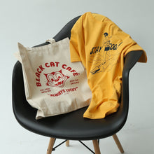 Load image into Gallery viewer, Black Cat Cafe Totebag