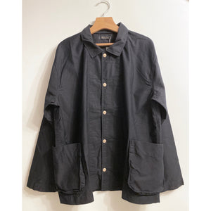 Button-up Navy Shirt Jacket