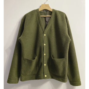 Moss Green Wool Cardigan