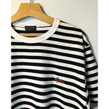 Load image into Gallery viewer, Black and White Stripes Embroidered T-shirt