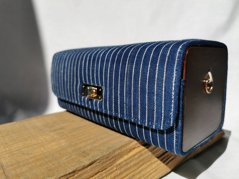Cuboid Bag | Pin Stripe
