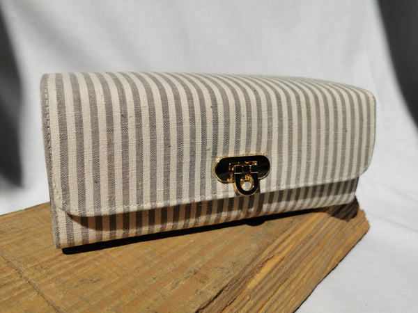 Cuboid Bag | Grey Stripes