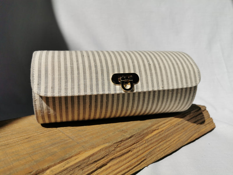 Cylinder Bag | Grey Stripes