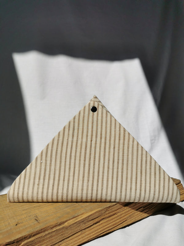 Triangle Origami Organiser | Neutral Stripes