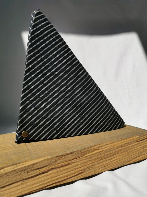 Triangle Origami Organiser | Monochrome Stripes