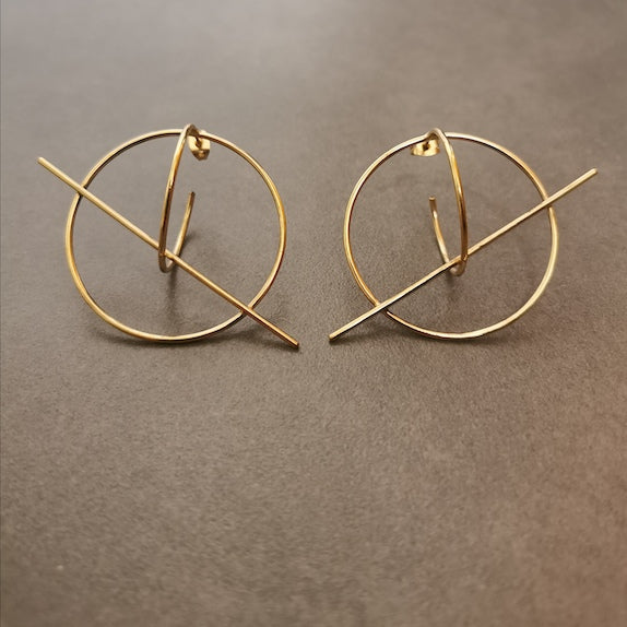 Tangent Hoop Earrings