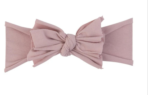 Ely's & Co. Mauve Bow Headband