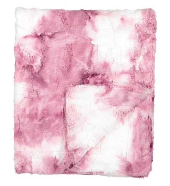 Zandino Ethan Cherry Plush Blanket