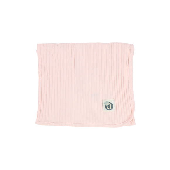 Lil Leg Baby Pink Wide Ribbed Blanket