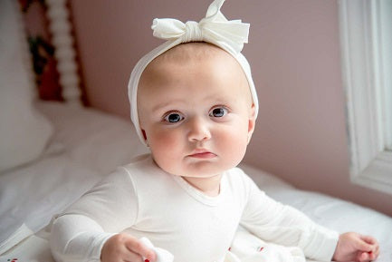 Ely's & Co White Bow Headband