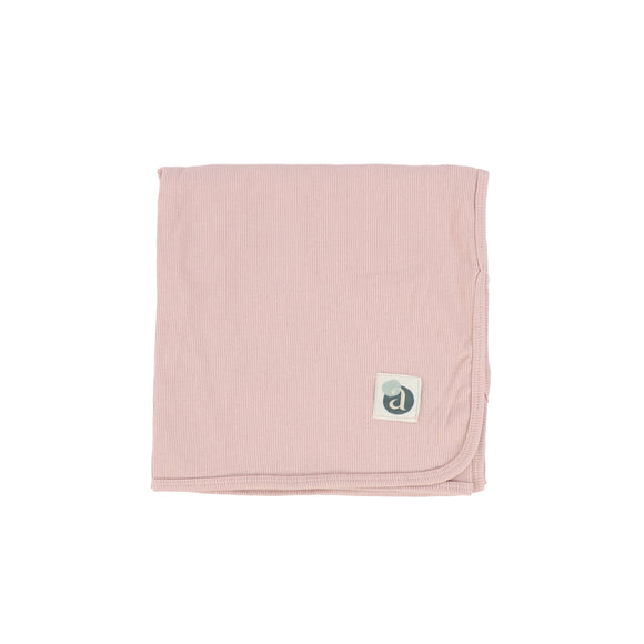 Lil Leg Soft Pink Ribbed Blanket