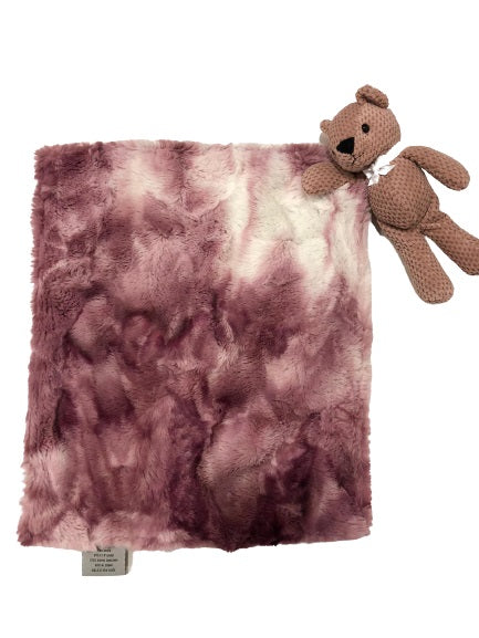Luxe Marble Berry Teddy Blanket