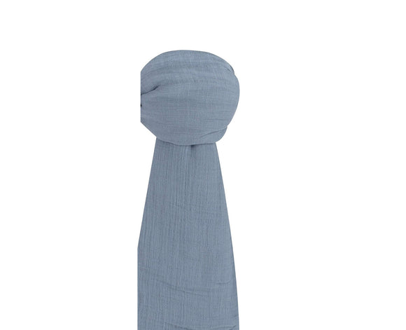 Ely's & Co Cotton Muslin Swaddle Blanket: Blue
