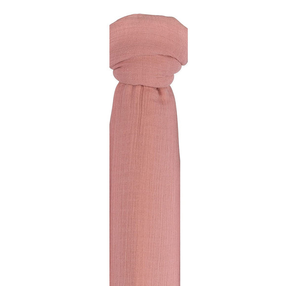 Ely's & Co Cotton Muslin Swaddle Blanket: Mauve