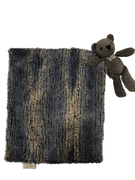 Timber Blue Teddy Blanket