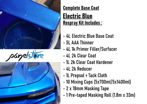 Base Coat Respray Kit - Electric Blue (Paint/Clear/Thinners inc)