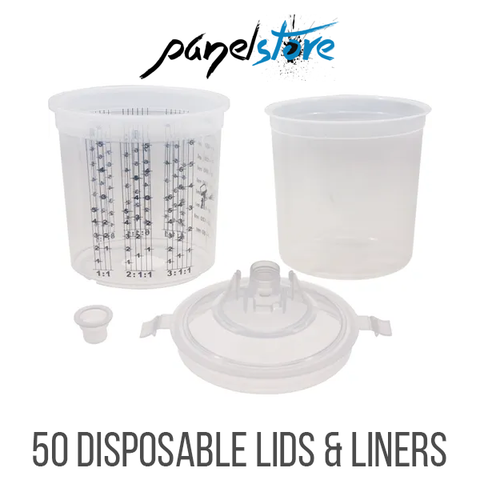 Premier PBS Disposable Paint Cups - 850ml - 125 Micron - 50 Sets