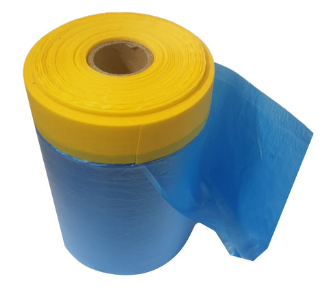 Pre-Taped Masking Film - Blue 550mm (33M)