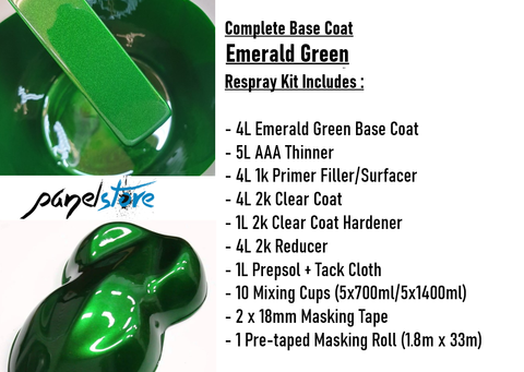 Base Coat Respray Kit - Emerald Green (Paint/Clear/Thinners inc)