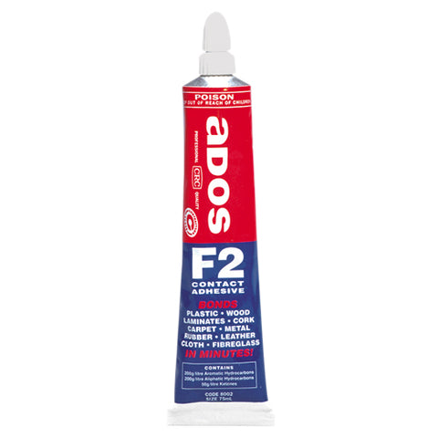 ADOS F2 Multipurpose Contact Adhesive - 75mL Tube