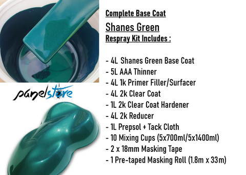 Base Coat Respray Kit - Shane's Green (Paint/Clear/Thinners inc)
