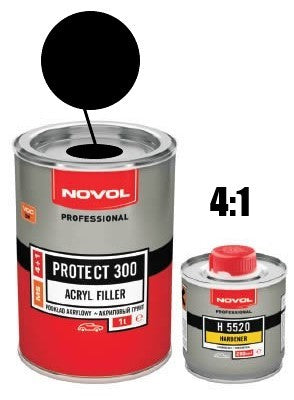 Novol Protect 300 2K Primer Black - 1.25L Kit (1L+0.25L)