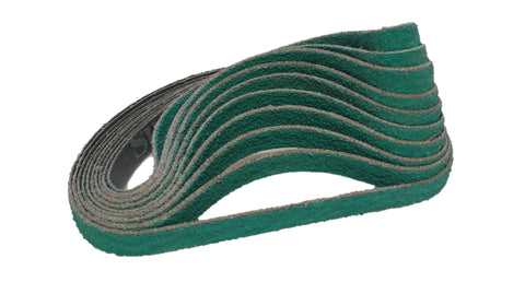 10mm Sanding Belts - P80 Zirconia (x10)
