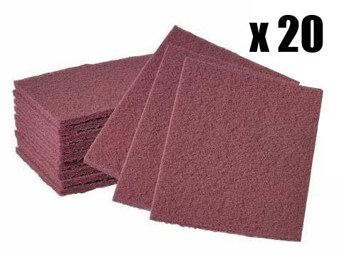 Colad Scuff Pads - Red - Box of 20