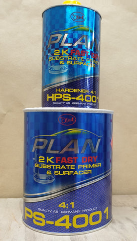PLAN PS-4001 4:1 2K Primer - 5L Kit (4L+1L)