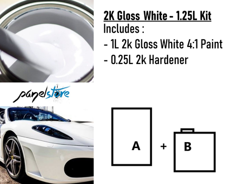PLAN 4:1 2K White 1.25L Kit (1L+0.25L)