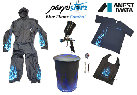 Anest Iwata - Blue Flame Combo (2XL) - W400 1.3mm + Bonus Items