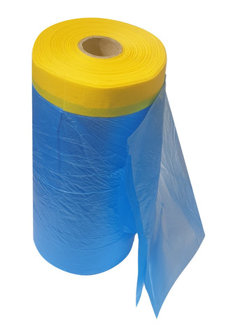 Pre-Taped Masking Film - Blue 1100mm (33M)