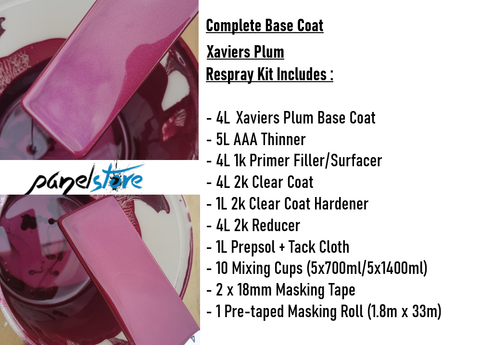 Base Coat Respray Kit - Xaviers Plum (Paint/Clear/Thinners inc)