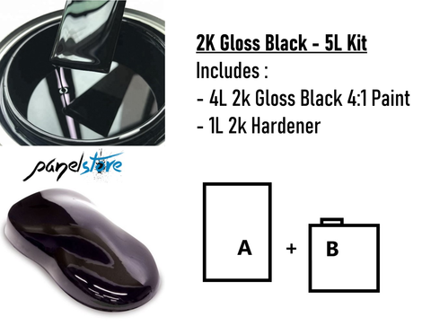 PLAN 4:1 2K Black - 5L Kit (4L+1L)