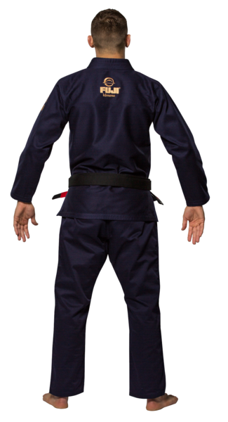 Fuji sports All Around BJJ Gi beginner navy blue back