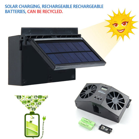 Free Shipping🔥solar Powered Car Exhaust Fan Beautybuy