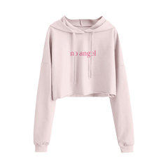 No Angel Blush Crop Hoodie