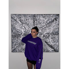 POP 2 PURPLE CREWNECK SWEATSHIRT