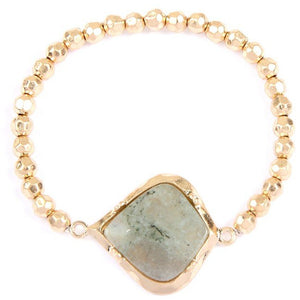 Stone & Bead Bracelet (multiple colors)