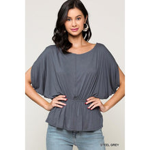 Load image into Gallery viewer, Boat Neck Dolman Sleeve Top
