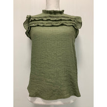 Load image into Gallery viewer, Olive, Ruffle and Lace trim, Top