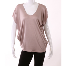 Load image into Gallery viewer, Mocha V-Neck Dolman Top