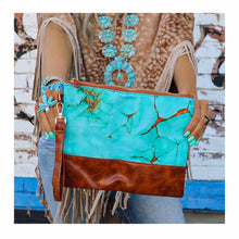 Load image into Gallery viewer, Turquoise Wristlet