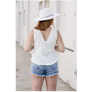Knit Sweater Tank Top