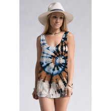 Load image into Gallery viewer, Tie-Dye Fall Tank Top