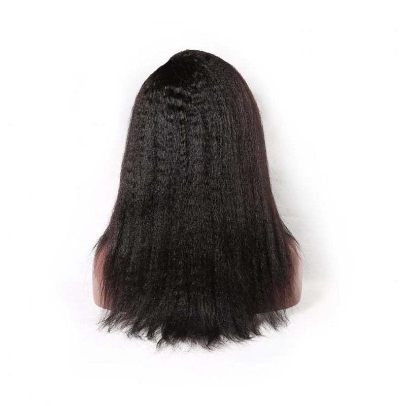 Premium Virgin Remy Frontal HD Transparent Kinky Straight Wig